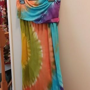 The Pyramid Collection Tie-dyed Maxi Skirt